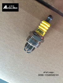 China OEM Small Chainsaw Spark Plug With 2 Electrodes Yellow For Lawn Mower supplier